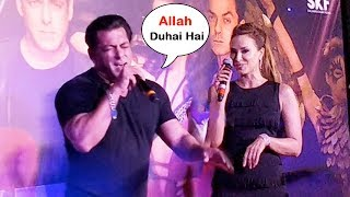 Salman Khan Singing Allah Duhai Hai Song With GF Iulia Vantur At Race 3 Grand Music Launch