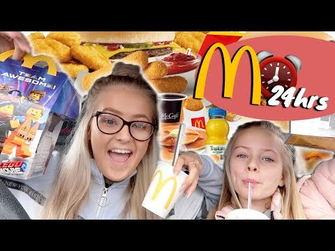 WE ATE ONLY MCDONALDS FOOD FOR 24 HOURS...