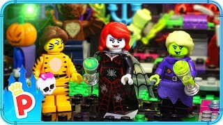 ♥ LEGO Ariel Goes to MONSTER PARTY with Rapunzel & Belle to Retrieve Stolen Necklace