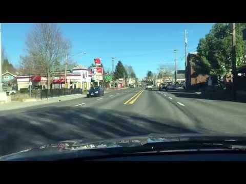 Testing a parking lot shortcut in Portland