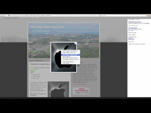 how to save a photo from the internet onto your mac