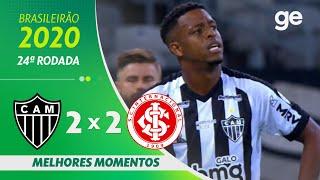 ATLÉTICO-MG 2 X 2 INTERNACIONAL | MELHORES MOMENTOS | 24ª RODADA BRASILEIRÃO 2020 | ge.globo