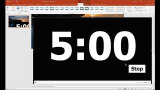 Adding timer to powerpoint screenshot 4