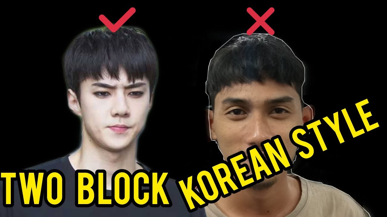 KOREAN STYLE ( TWO BLOCK ) GAYA RAMBUT 2020 - YouTube