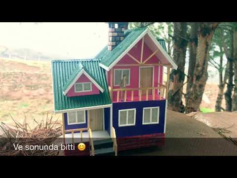 Maket Ev Yapımı-Modern Dubleks Ev Işıklı - How to make a model house Vol 2