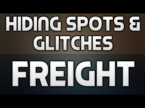 Hiding Spots + Glitches on Freight! (Call of Duty: Ghosts)