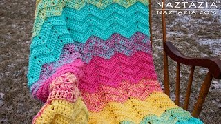 DIY Tutorial - How to Crochet Double Sweet Ripple - Baby Blanket Chevron Zig Zag Afghan Throw