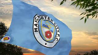Flag, shield & anthem MANCHESTER CITY