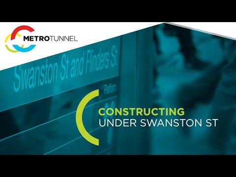 Constructing under Swanston Street - Melbourne Metro Rail Project