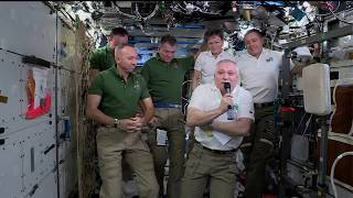 Change of Command aboard the Space Station