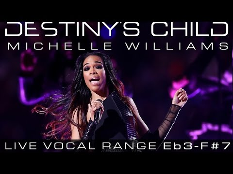 Michelle Williams' Live Vocal Range: Destiny's Child Era (2000-2005) [Eb3-G#5-F#7]