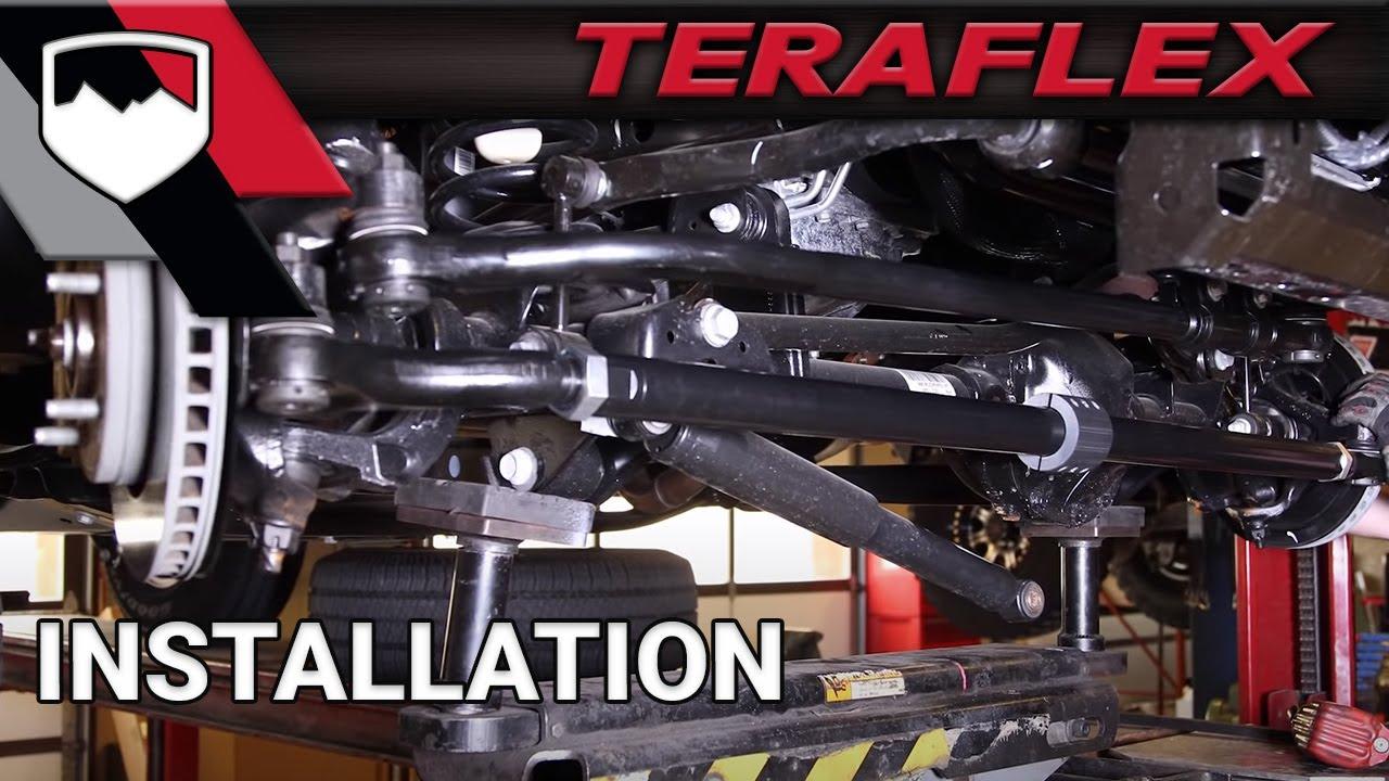TeraFlex Install: JK HD Tie Rod U0026 Drag Link Kit   YouTube