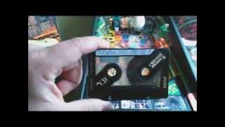 Erasing Audio Tape (Music Cassette) with an electromagnet from a pinball machine, bulk erase