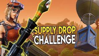 SUPPLY DROP CHALLENGE + LEGENDARY RPG (Fortnite Battle Royale)