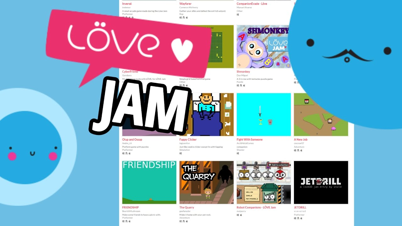 LÖVE JAM 2017 ALL GAMES | LOVE2D GAME JAM