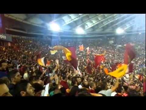 Roma Bayern 21 10 14 Campo Testaccio Curva Sud