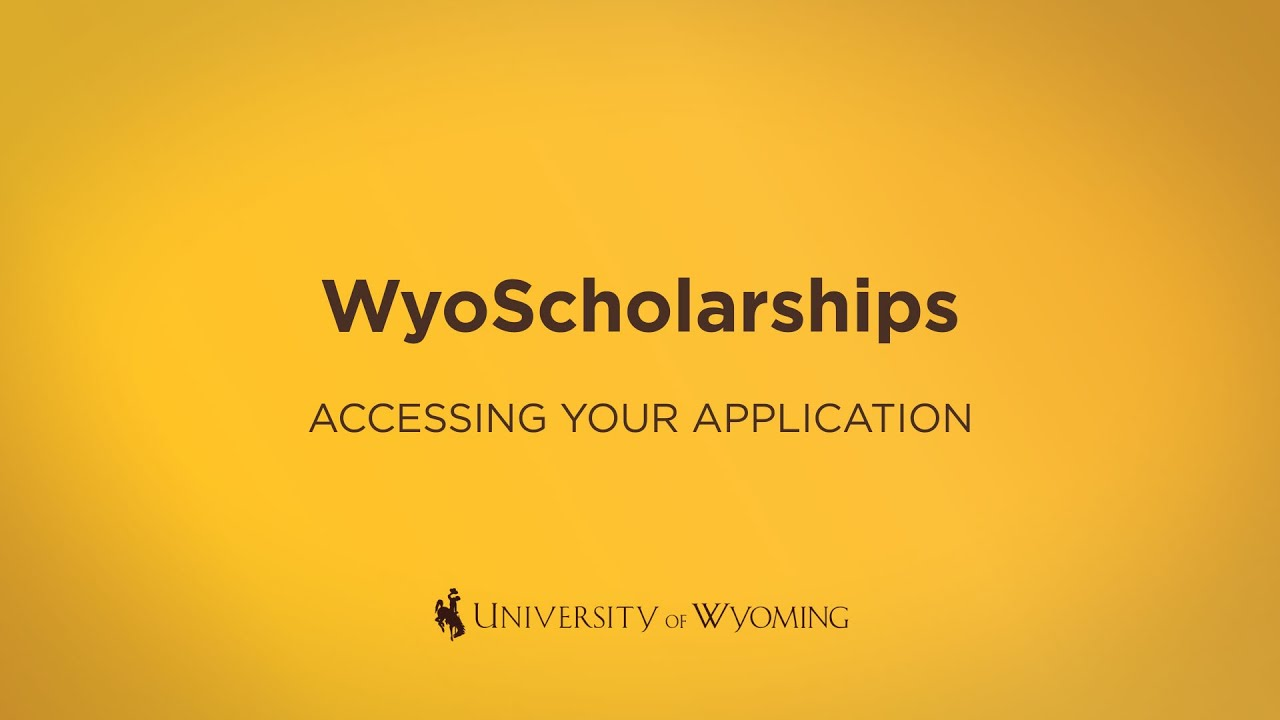 Getting Started with WyoScholarships