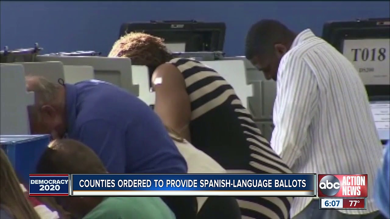 FLORIDA counties ordered to provide Spanish ballots