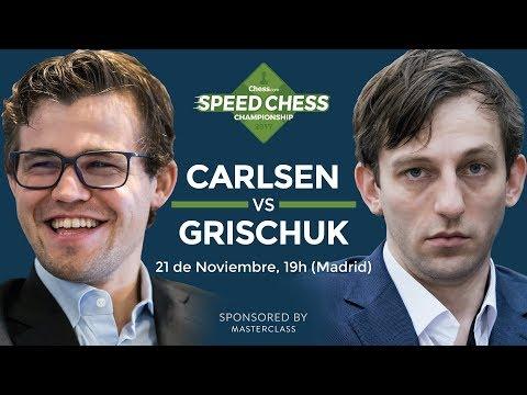 Magnus Carlsen vs Alexander Grischuk | Torneo de Ajedrez Speed Chess 2017