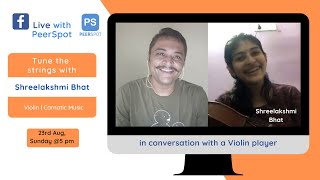 FB Live with Shree on Violin, Carnatic Music, Gamaka, Guru Shree Sriram Parasuram ji