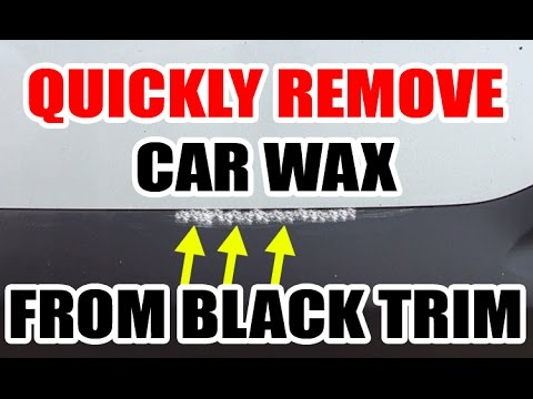 How To Remove Wax Polish From Black Trim Easy