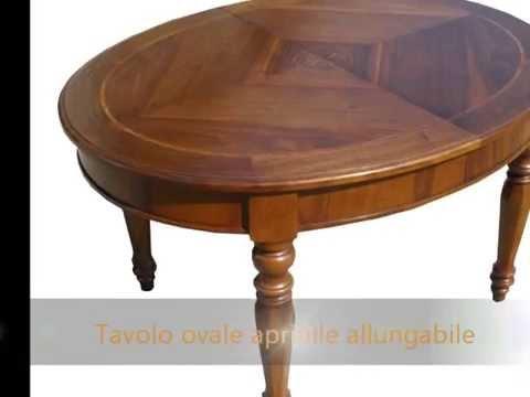 Tavolo tavoli artigianali allungabili classici rotondi for Tavoli classici allungabili