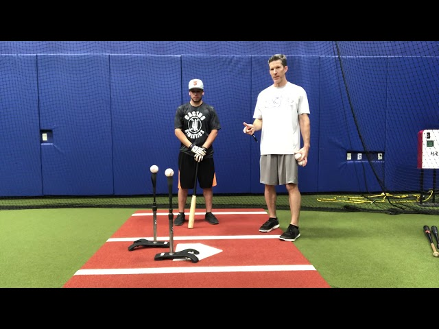 Double Batting Tee- Inside and Outside Pitches Drill
