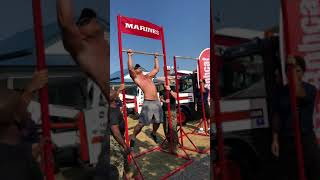 2018 Pull-ups Record Minnesota State Fair Marines Booth (30 deadhang lockout reps at 240lbs