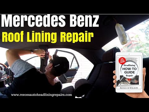 Mercedes Benz c220 Roof Lining Repair | HOW TO FIX CAR ROOFLINING UPHOLSTERY