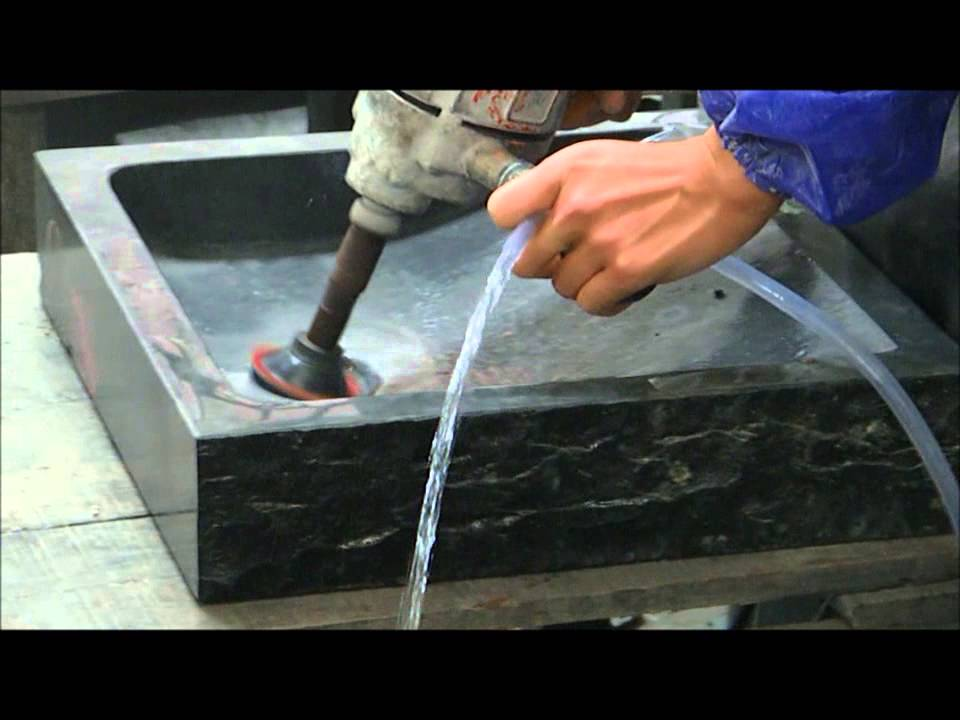 Granite Stone Sinks   Vessel Sinks And Basalt For Luxurious Bathroom  Livingu0027ROC Factory   YouTube