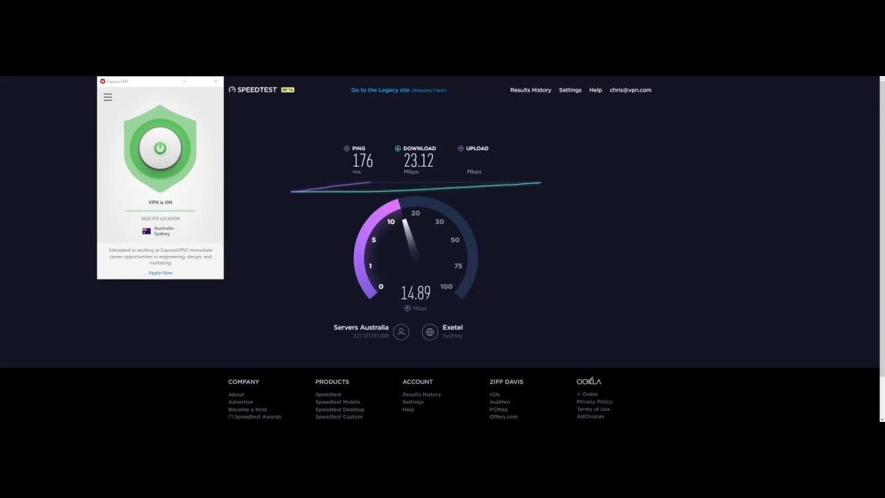 ExpressVPN Speed Test - Sydney Australia VPN Server - 2017/09/21