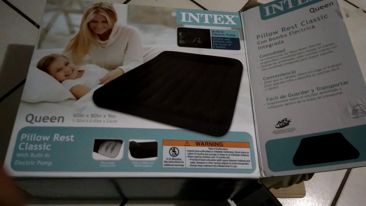 Intex colch/ón Classic sin Bomba el/éctrica incorporada