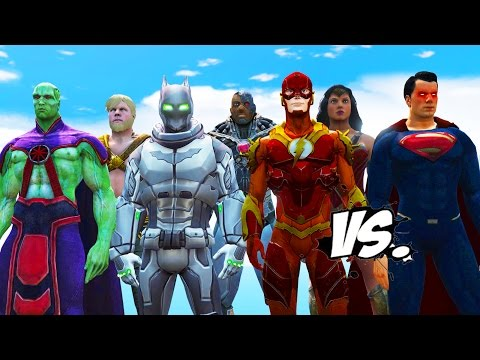 SUPERMAN VS JUSTICE LEAGUE - BATMAN, THE FLASH, WONDER WOMAN, AQUAMAN, CYBORG VS SUPERMAN