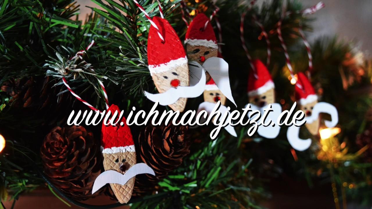 Anhanger Weihnachtsmanner Aus Holz Diy Shabby Chic Basteln Youtube