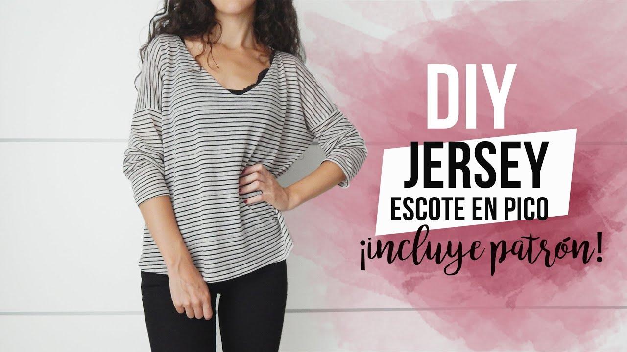 Diy easy sweater c mo hacer un jersey de punto f cil - Jerseys faciles de hacer ...