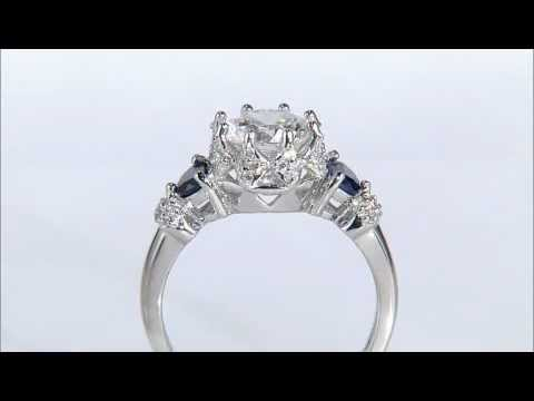 Bella Luce R Lab Created Shire With White Diamond Simulant 2 73ctw Rhodium Plated Silver Ring