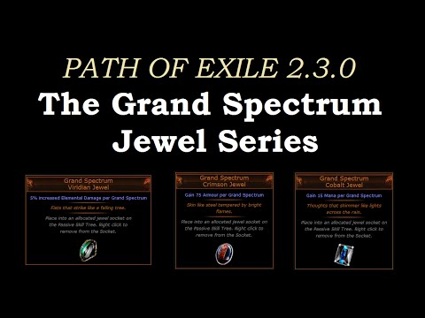 Path of Exile - The Grand Spectrum Jewel series