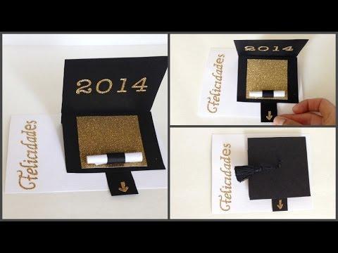 Tarjeta Para Graduación Graduation Card Youtube