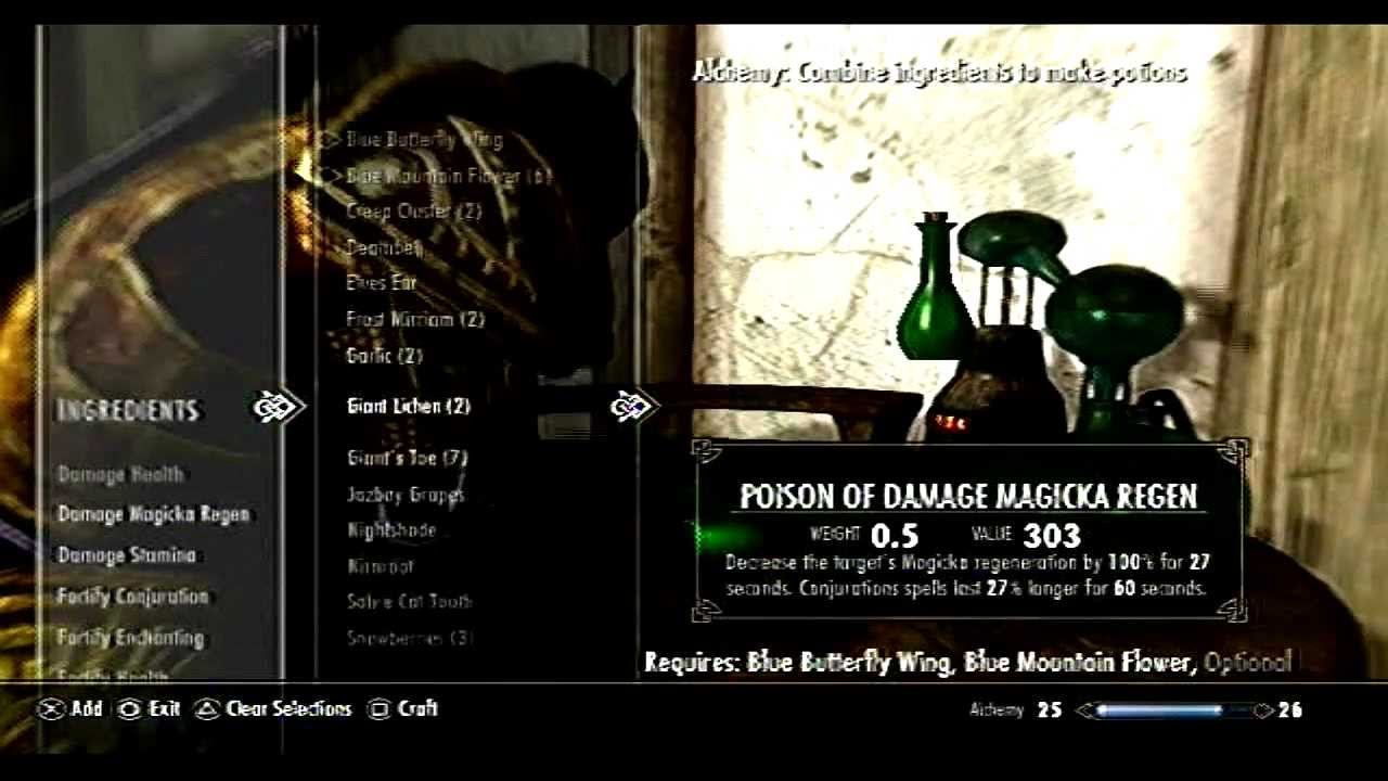 Skyrim How To Level Up Alchemy Fast Youtube