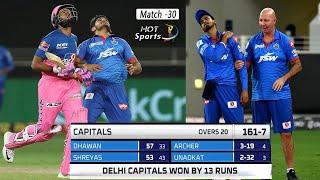 Match 30 - Delhi Capitals vs Rajasthan Royals | Full Match Highlights | IPL 2020
