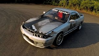 Skyline drift missile walkaround: Alexi's R32 practice car at Ebisu Circuit