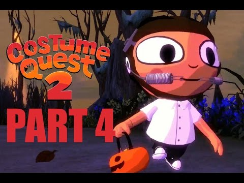 Costume Quest 2 Let's Play Walkthrough Part 4 - Brace Face Stole Our Candy!