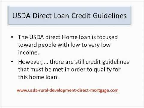 USDA Direct Loan Credit Guidelines