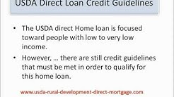 USDA Direct Loan Credit Guidelines