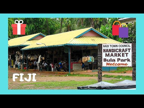 FIJI, the HANDICRAFTS MARKET in the beautiful city of NADI (