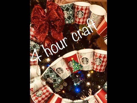 vlogmas day 4 2018 star bucks holiday paper cups craft #starbuckscups2018 #craft #vlogmas