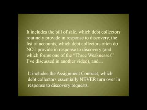 Assignment contracts - Holy Grail of Debt Collection Defense