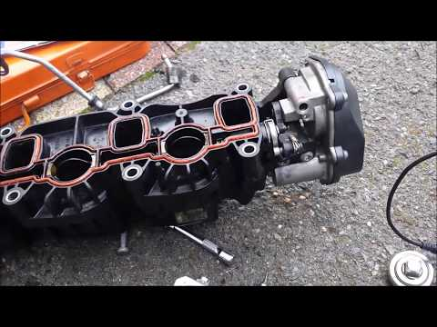 Réparation collecteur admission VAG AUDI 2 0 TDI 143 CAGA (Intake manifold  repair bracket)