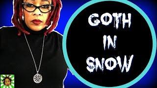 Simple Goth Fashion In Snow | Hello, Spring!