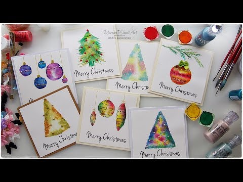 7 Watercolor Christmas Card Ideas for Beginners ♡ Maremi's Small Art ♡